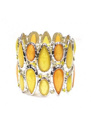 BH1415 Yellow costume fashion bracelet