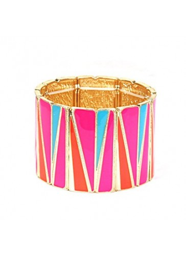 BH1491 Pink contemporary style stretch fashion bracelet