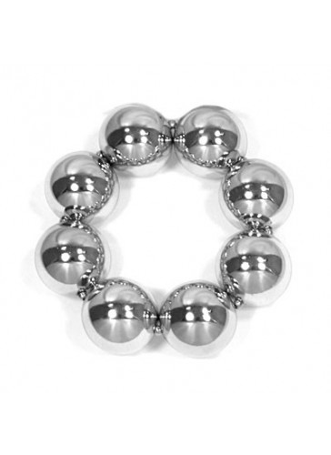 BH1954 Silver toned chunky bead bracelet