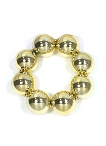 BH1954 Gold toned chunky bead bracelet