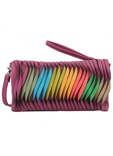 PHB2840 Rainbow Fashion Clutch