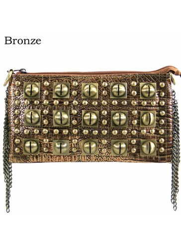 P3016 Metal studs evening purse