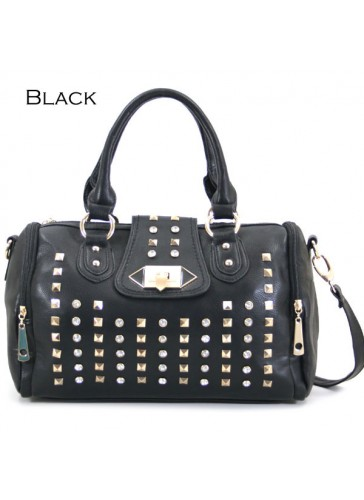 PGH5536 Metal stud decor fashion satchel