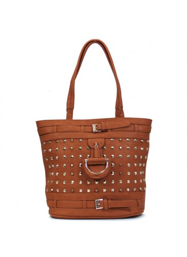 PGR1773 metal stud decorated handbags