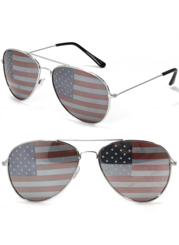 SS8201 American Flag Sunglasses by pieces