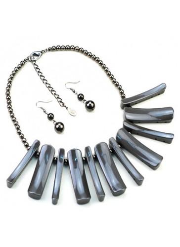 N3460GY Celebrity Inspired Designer Necklace