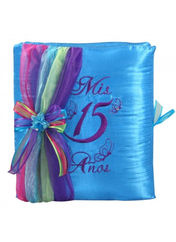 Quinceanera Photo Album Guest Book Kneeling Tiara Pillows Bible Q3144