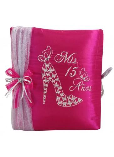 Quinceanera Photo Album Guest Book Kneeling Tiara Pillows Bible Q3148