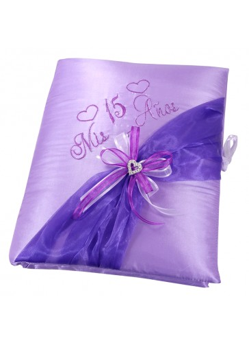 Quinceanera Photo Album Guest Book Kneeling Tiara Pillows Bible Q3151