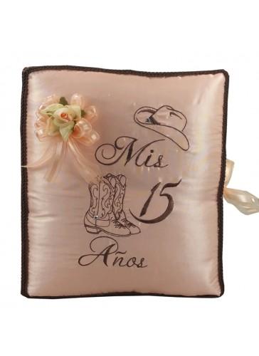 Quinceanera Photo Album Guest Book Kneeling Tiara Pillows Bible Q3152