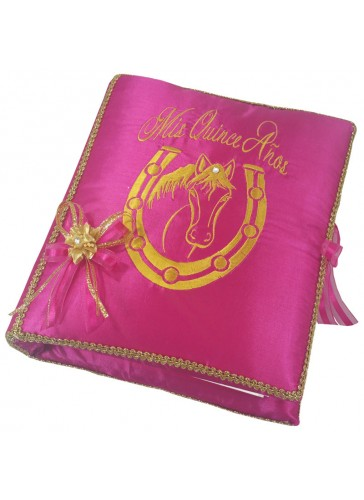 Quinceanera Photo Album Guest Book Kneeling Tiara Pillows Bible Q3155