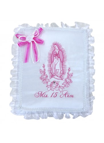 Quinceanera Photo Album Guest Book Kneeling Tiara Pillows Bible Q3167