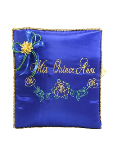 Quinceanera Photo Album Guest Book Kneeling Tiara Pillows Bible Q3169