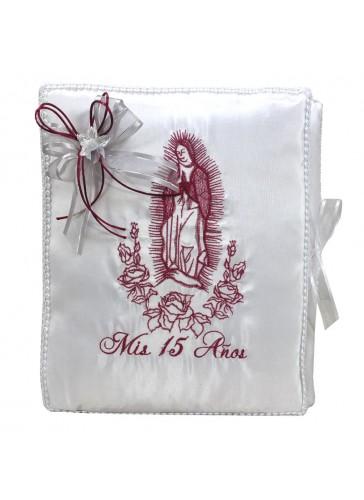Quinceanera Photo Album Guest Book Kneeling Tiara Pillows Bible Q3177