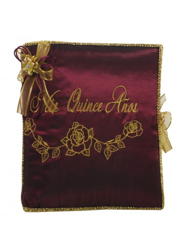 Quinceanera Photo Album Guest Book Kneeling Tiara Pillows Bible Q3179
